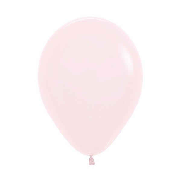 Balão de Festa Latex R10'' 25cm - Rosa Pastel Matte - 50 unidades - Sempertex Cromus - Rizzo Festas