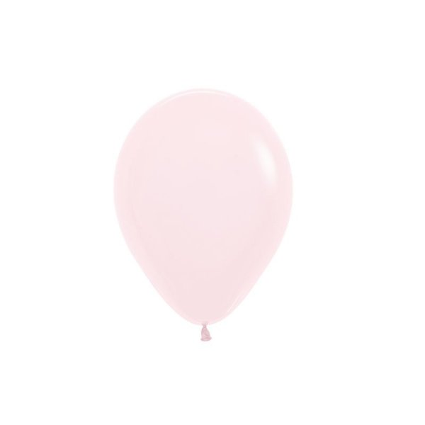 Balão de Festa Latex R5'' 12cm - Rosa Pastel Matte - 50 unidades - Sempertex Cromus - Rizzo Festas