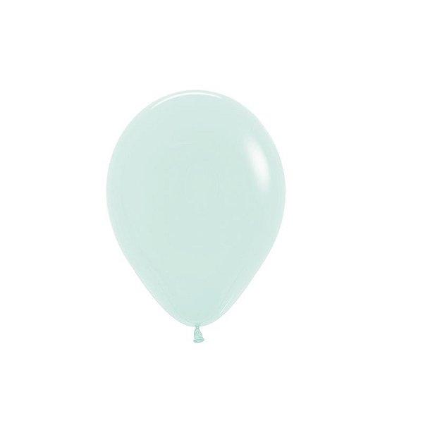 Balão de Festa Latex R5'' 12cm - Verde Pastel Matte - 50 unidades - Sempertex Cromus - Rizzo Festas