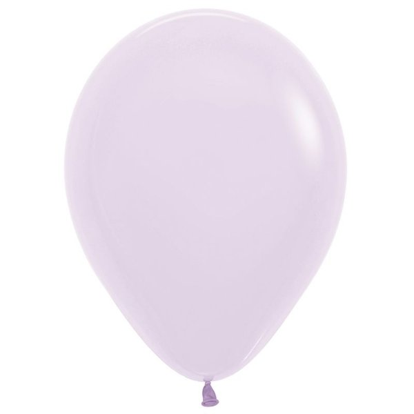 Balão de Festa Latex R12'' 30cm - Lilás Pastel Matte - 50 unidades - Sempertex Cromus - Rizzo Festas