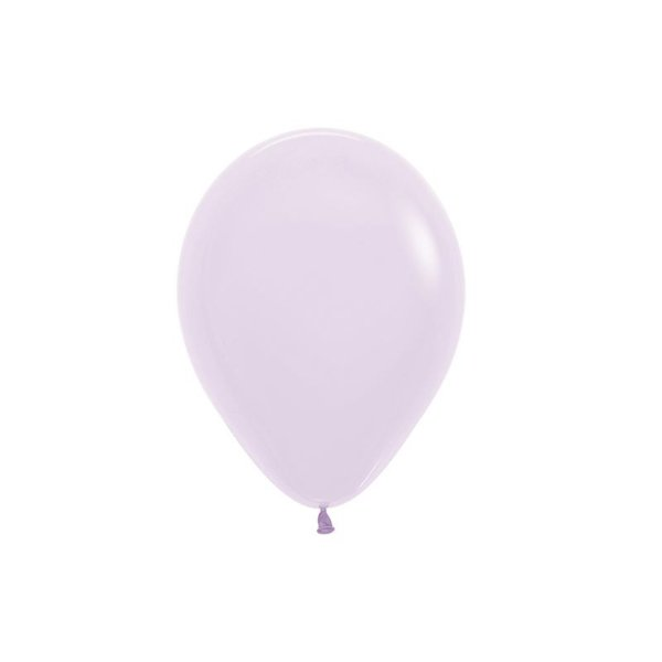 Balão de Festa Latex R5'' 12cm - Lilás Pastel Matte - 50 unidades - Sempertex Cromus - Rizzo Festas