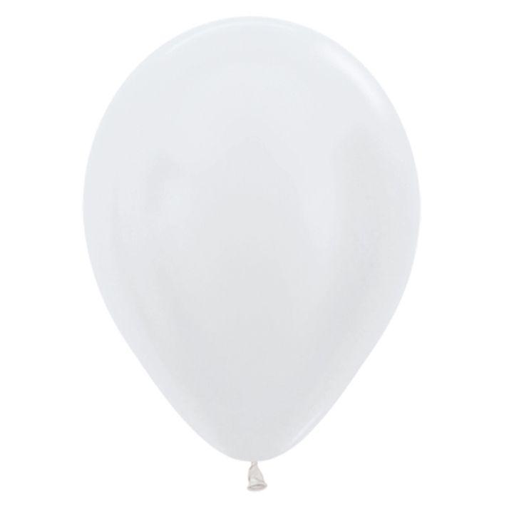 Balão de Festa Latex R12'' 30cm - Pérola Satin Perolado - 50 unidades - Sempertex Cromus - Rizzo Festas
