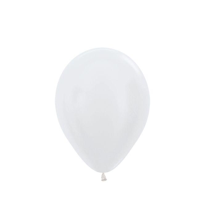 Balão de Festa Latex R5'' 12cm - Pérola Satin Perolado - 50 unidades - Sempertex Cromus - Rizzo Festas