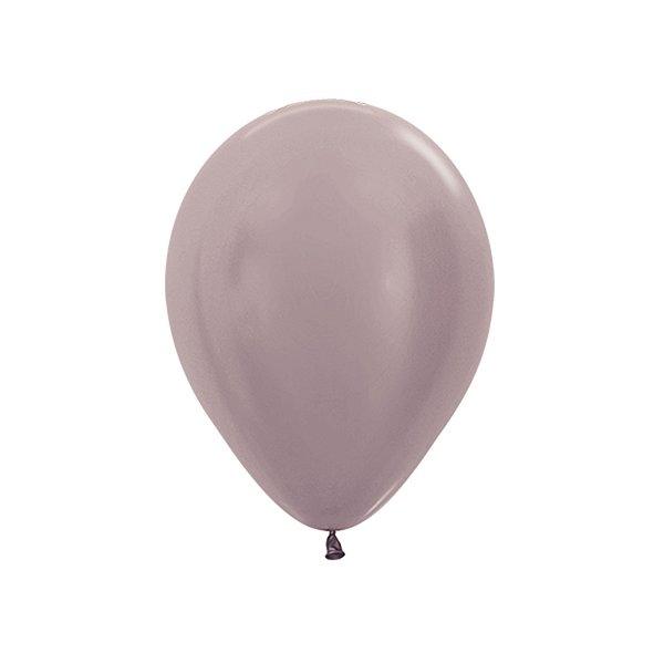 Balão de Festa Latex R10'' 25cm - Greige Satin Perolado - 50 unidades - Sempertex Cromus - Rizzo Festas
