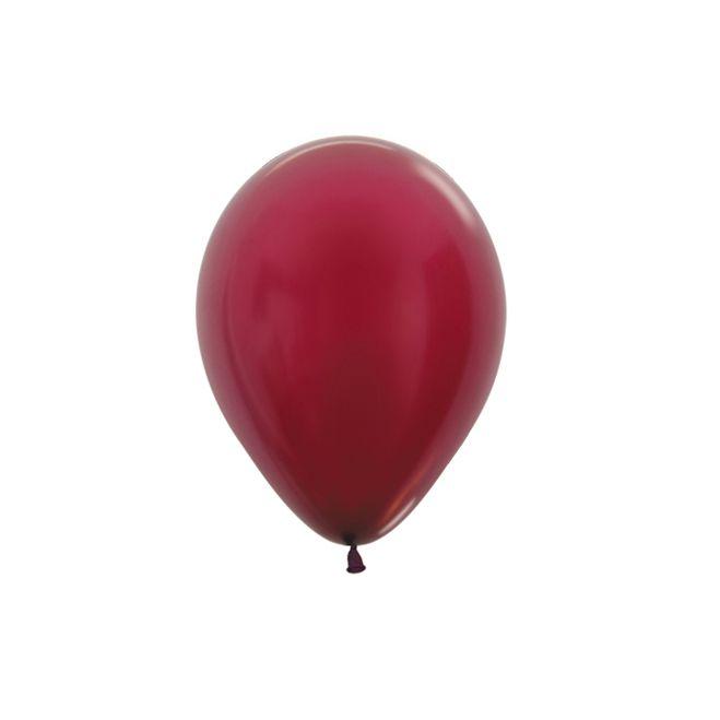 Balão de Festa Latex R5'' 12cm - Marsala Metal - 50 unidades - Sempertex Cromus - Rizzo Festas