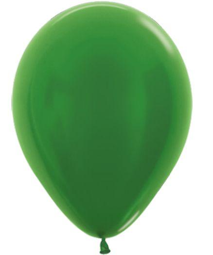 Balão de Festa Latex R12'' 30cm - Verde Metal - 50 unidades - Sempertex Cromus - Rizzo Festas