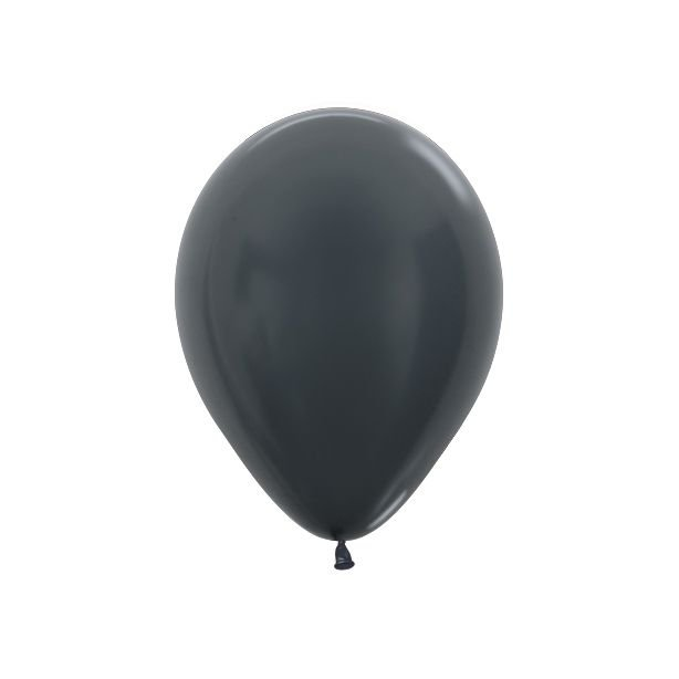Balão de Festa Latex R5'' 12cm - Grafite Metal - 50 unidades - Sempertex Cromus - Rizzo Festas