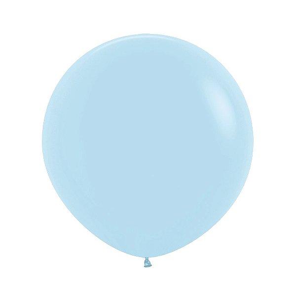Balão de Festa Latex R24'' 60cm - Pastel Azul Matte - 03 unidades - Sempertex Cromus - Rizzo Festas