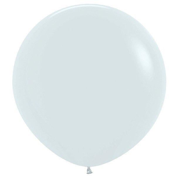 Balão de Festa Latex R36'' 91,5cm - Fashion Branco - 02 unidades - Sempertex Cromus - Rizzo Festas