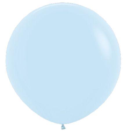 Balão de Festa Latex R36'' 91,5cm - Pastel Azul Matte - 02 unidades - Sempertex Cromus - Rizzo Festas