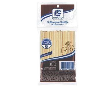 Palito de Madeira Para Pirulito - 100 Unidades - Theoto