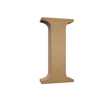 Letra MDF Cru - I - 12x10cm - Rizzo Embalagens