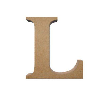 Letra MDF Cru - L - 12x10cm - Rizzo Embalagens