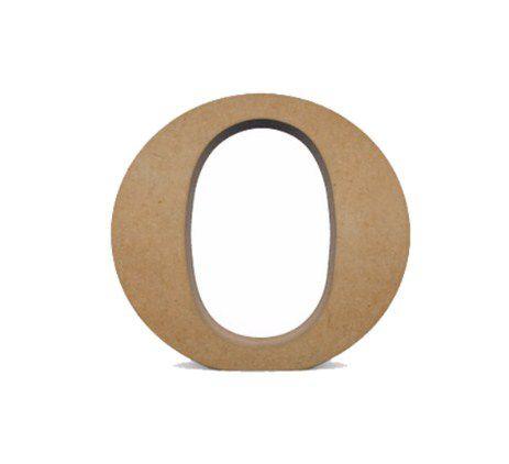 Letra MDF Cru - O - 12x10cm - Rizzo Embalagens