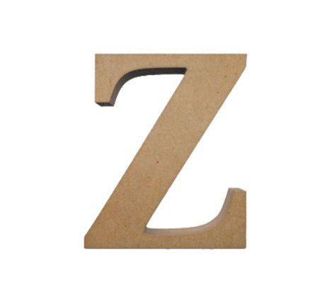 Letra MDF Cru - Z - 12x10cm - Rizzo Embalagens