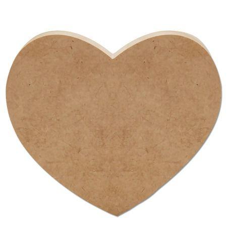 Letra MDF Cru - Coração - 12x10cm - Rizzo Embalagens