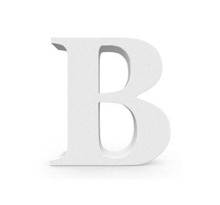 Letra MDF Branca - B - 12x10cm - Rizzo Embalagens