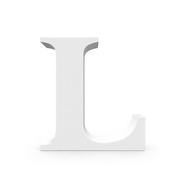 Letra MDF Branca - L - 12x10cm - Rizzo Embalagens