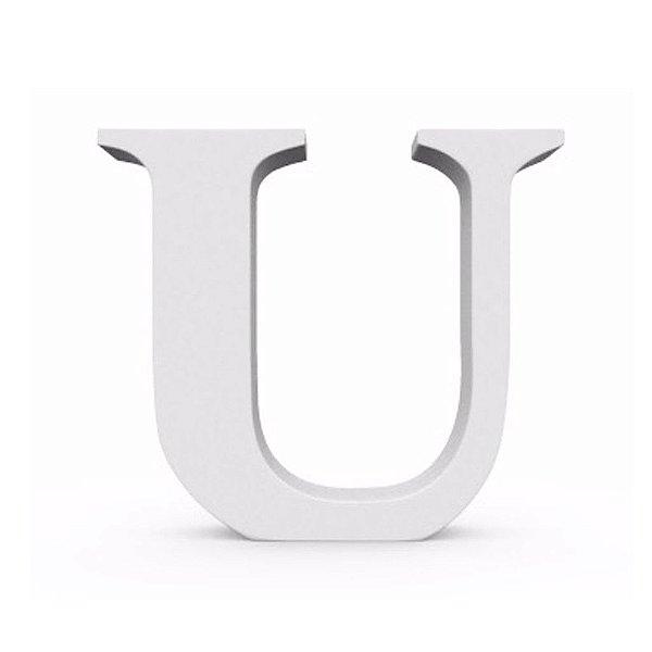 Letra MDF Branca - U - 12x10cm - Rizzo Embalagens