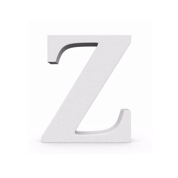 Letra MDF Branca - Z - 12x10cm - Rizzo Embalagens