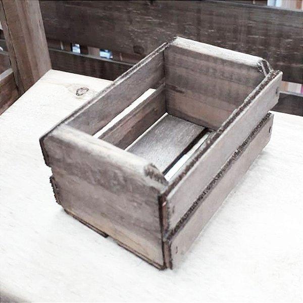 Mini Caixote Madeira - Betume 8x12cm - Rizzo Embalagens