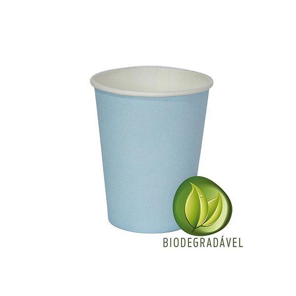 Copo em Papel Biodegradável Azul Bebê 240ml - 10 unidades - Silverplastic - Rizzo Festas