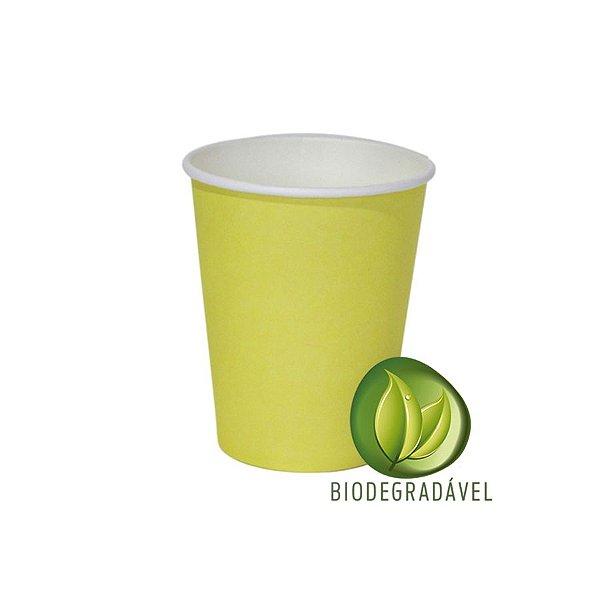 Copo em Papel Biodegradável Amarelo 240ml - 10 unidades - Silverplastic - Rizzo Festas