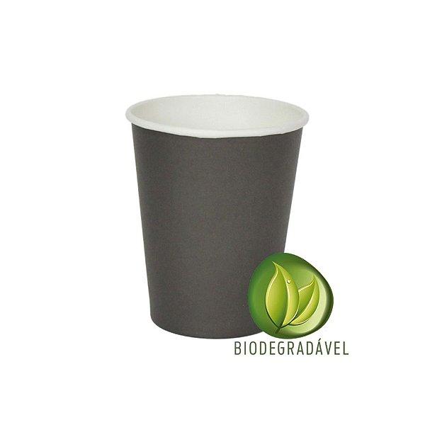 Copo em Papel Biodegradável Preto 240ml - 10 unidades - Silverplastic - Rizzo Festas