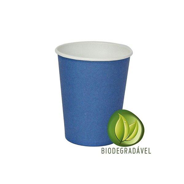 Copo em Papel Biodegradável Azul 240ml - 10 unidades - Silverplastic - Rizzo Festas