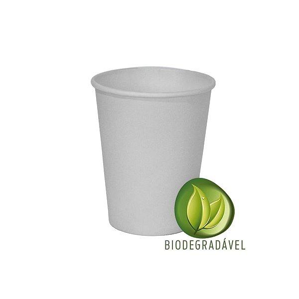 Copo em Papel Biodegradável Branco 240ml - 10 unidades - Silverplastic - Rizzo Festas