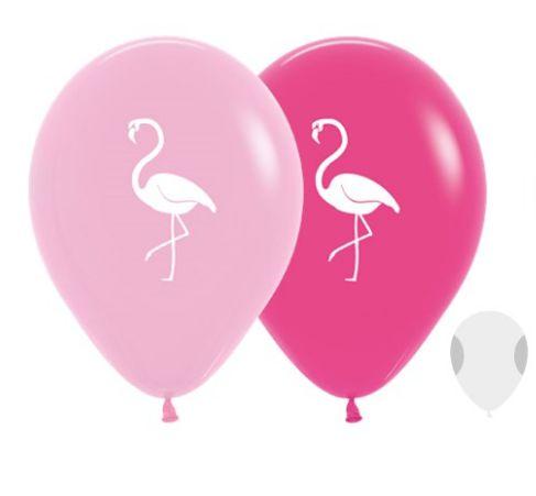 Balão de Festa Latex R12'' 30cm - Fashion Flamingo Sortido - 60 unidades - Sempertex Cromus - Rizzo Festas
