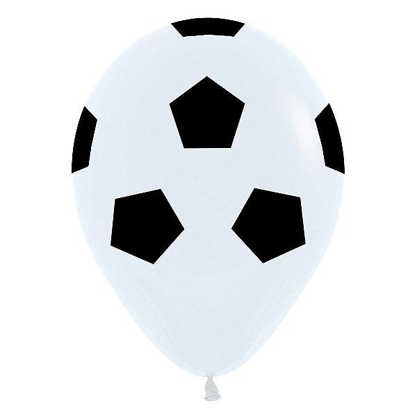 Balão de Festa Latex R12'' 30cm - Fashion Bola de Futebol - 60 unidades - Sempertex Cromus - Rizzo Festas