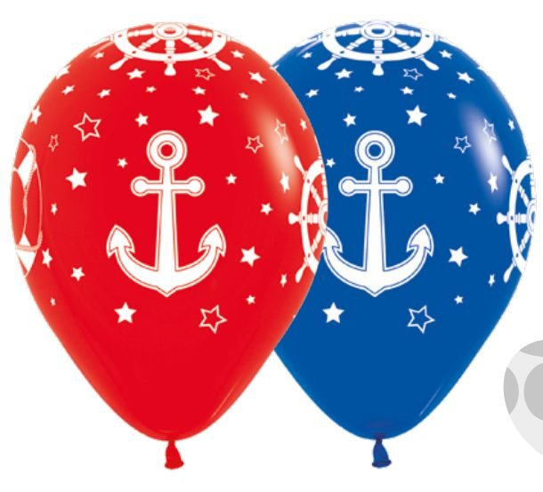 Balão de Festa Latex R12'' 30cm - Fashion Náutico Composê - 60 unidades - Sempertex Cromus - Rizzo Festas