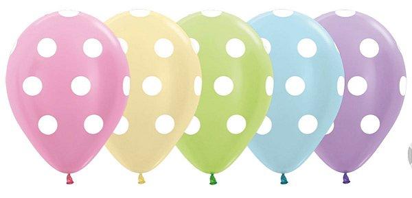 Balão de Festa Latex R12'' 30cm -Pastel Matte Sortido - 60 unidades - Sempertex Cromus - Rizzo Festas