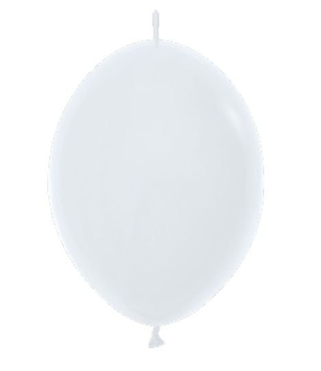 Balão de Festa Latex Link-o-Loon 12'' 29cm - Fashion Branco - 50 unidades - Sempertex Cromus - Rizzo Festas