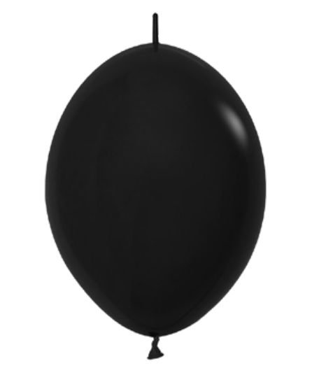 Balão de Festa Latex Link-o-Loon 12'' 29cm - Fashion Preto - 50 unidades - Sempertex Cromus - Rizzo Festas