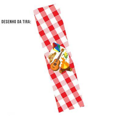 Tiras de Papel Festa Junina Arraiá Vermelho G para Embalagens - 5 Unidades - Rizzo Embalagens