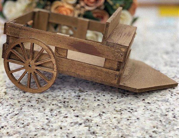 Enfeite de Mesa Carroça Festa Junina em MDF - 30cm x 15cm - Rizzo Embalagens