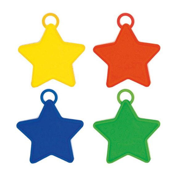 Acessório Peso para Balão Estrelas Sortido 15g - 10 unidades - Cromus - Rizzo Festas