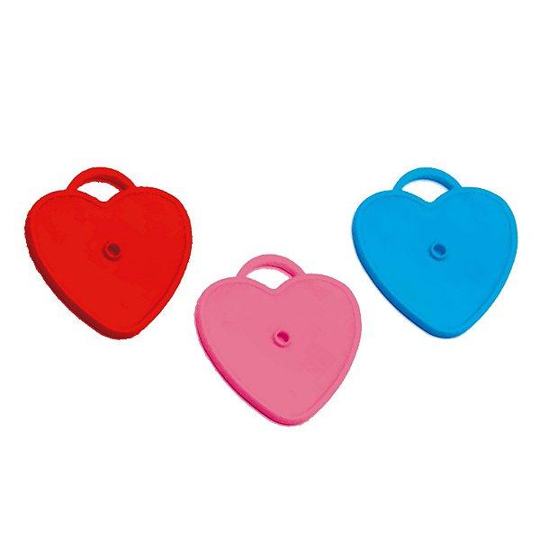 Acessório Peso para Balão Corações Sortidos 17g - 10 unidades - Cromus - Rizzo Festas