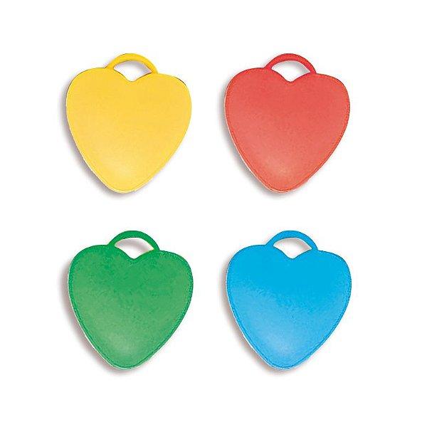 Acessório Peso para Balão Corações Sortidos 08g - 10 unidades - Cromus - Rizzo Festas