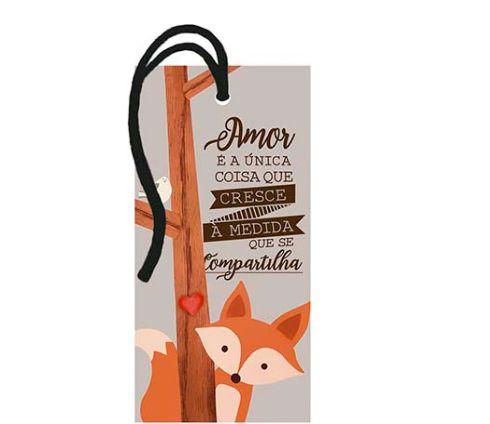 Tag Decorativa MDF Amor é a Unica - LitoArte - Rizzo Embalagens