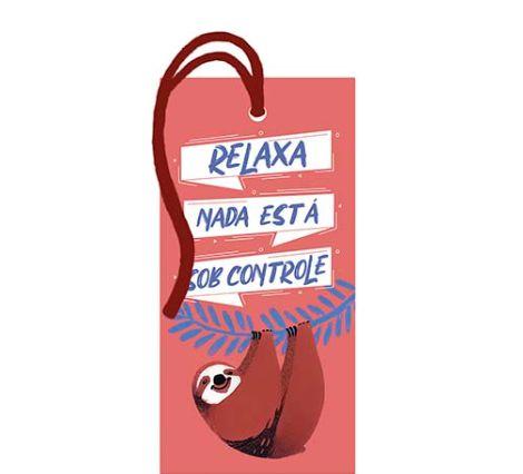Tag Decorativa MDF Preguiça Relaxa - LitoArte - Rizzo Embalagens