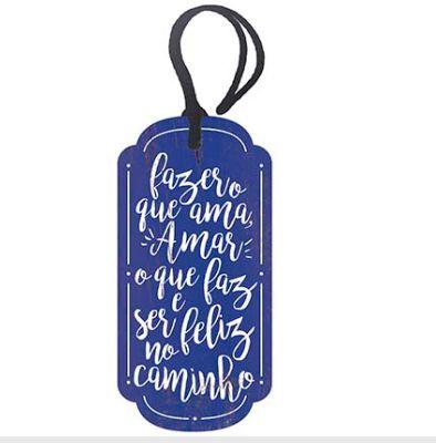 Tag Decorativa MDF Fazer Oque...  - LitoArte - Rizzo Embalagens