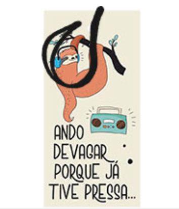Tag Decorativa MDF Bicho Preguiça - LitoArte - Rizzo Embalagens