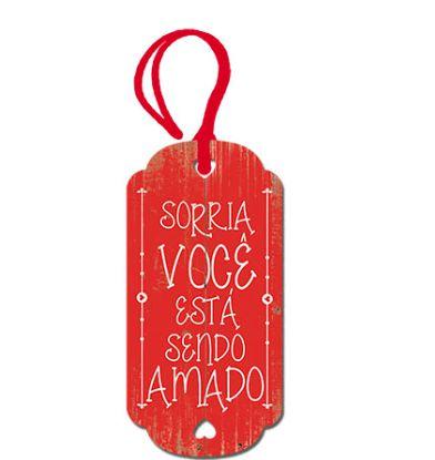 Tag Decorativa MDF Sorria Você... - LitoArte - Rizzo Embalagens