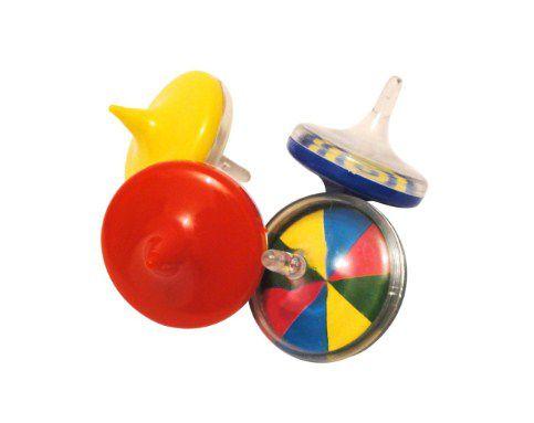 Mini Brinquedo Pião Colorido Sortido - 4,5 x 4cm - 12 Unidades - Dodo Brinquedos - Rizzo Embalagens