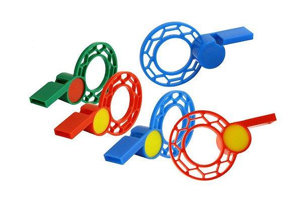 Mini Brinquedo Apito Juiz Colorido Sortido - 6 x 3,6cm - 20 Unidades - Dodo Brinquedos - Rizzo Embalagens