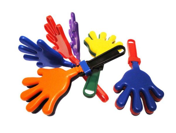 Mini Brinquedo Bate Palma Colorido Sortido - 14 x 6,5cm - 8 Unidades - Dodo Brinquedos - Rizzo Embalagens