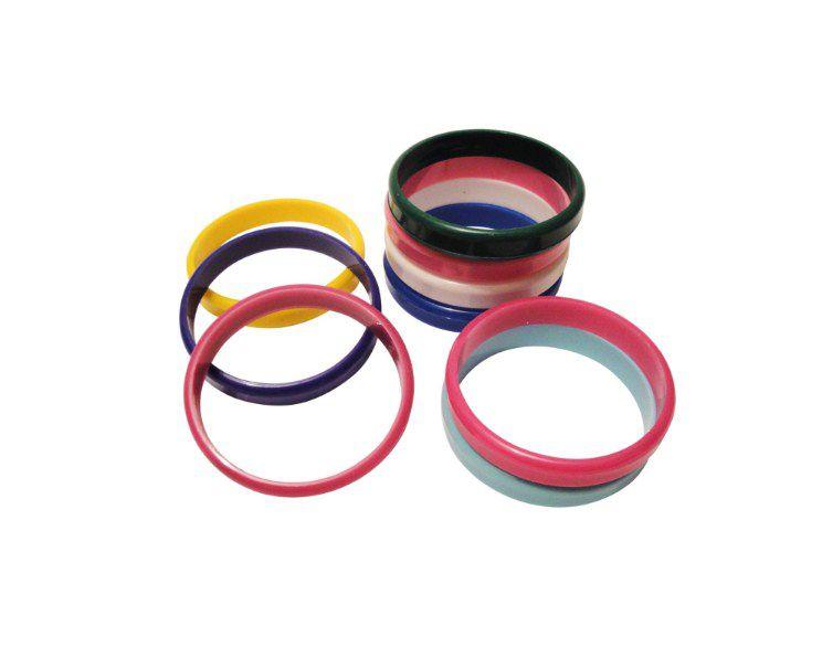 Mini Brinquedo Pulseira Cristal Colorido Sortido - 6 x 6cm - 8 Unidades - Dodo Brinquedos - Rizzo Embalagens